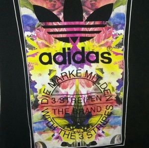 Adidas original floral print tee